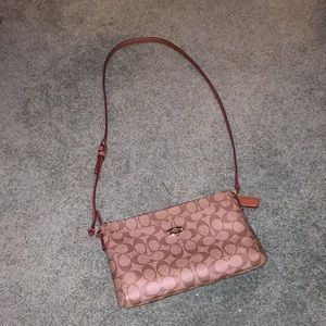 Tan and brown authentic coach crossbody